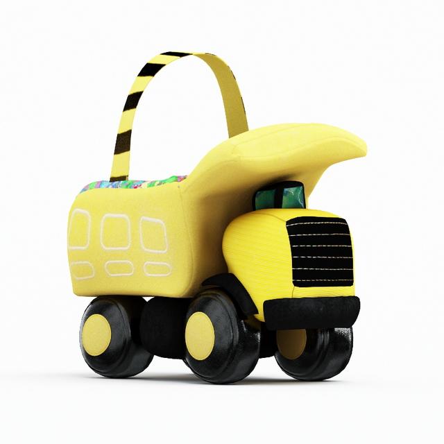 Car toys storage box 3d rendering