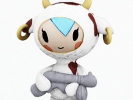 Cartoon plush cow doll 3d preview