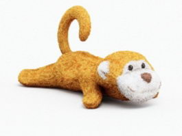 Stuffed toy monkey 3d preview