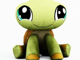 Stuffed toy yortoise 3d preview
