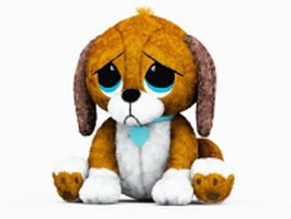Stuffed animals dogs 3d preview