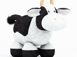 Stuffed cow toy 3d preview