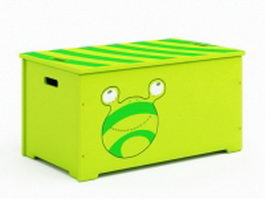 Toy storage box 3d preview