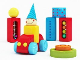 Building blocks toys 3d preview