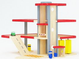 Wood toy play sets 3d preview