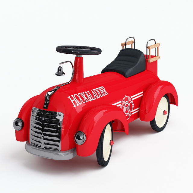 Ride on toy car 3d rendering