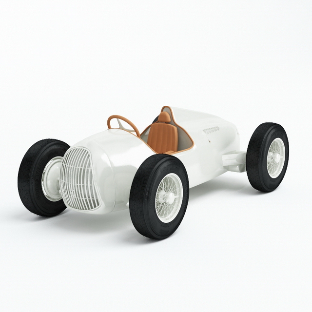 Electric ride on toy 3d rendering