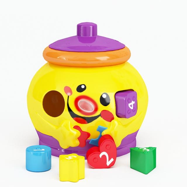 Plastic letter toys 3d rendering
