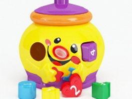 Plastic letter toys 3d preview