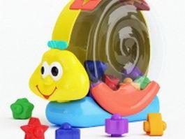 Plastic snail toy 3d preview