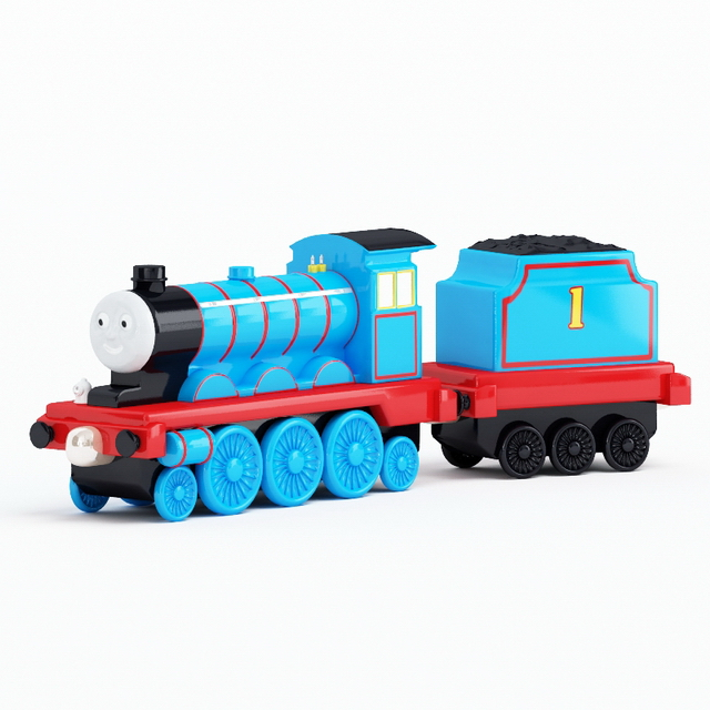 Toy train sets 3d rendering