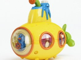 Plastic submarine toy 3d preview