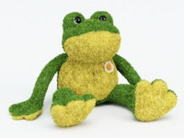 Plush frog toy 3d preview
