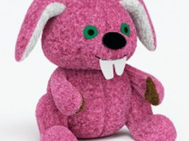 Stuffed rabbit toy 3d preview