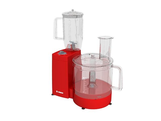 Bosch juicer 3d rendering