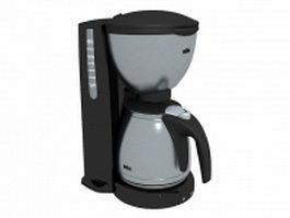 Braun coffee maker 3d preview