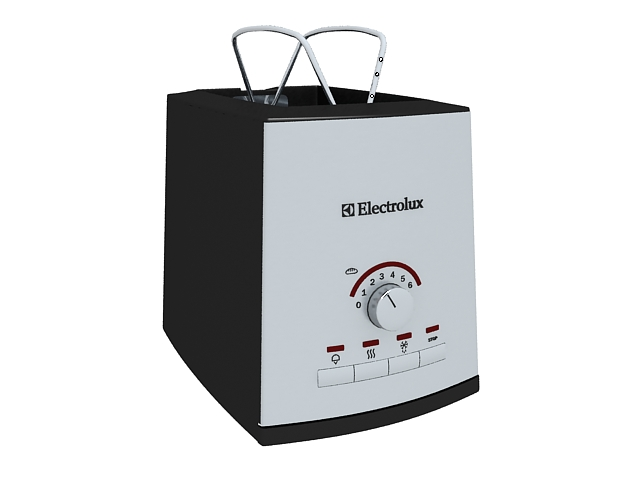Electrolux Toaster 3d rendering