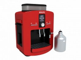 Krups espresso coffee maker 3d model preview