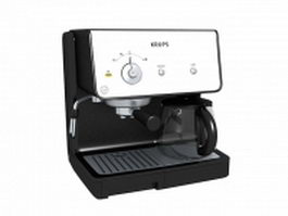 Krups coffee and espresso combination machine 3d preview