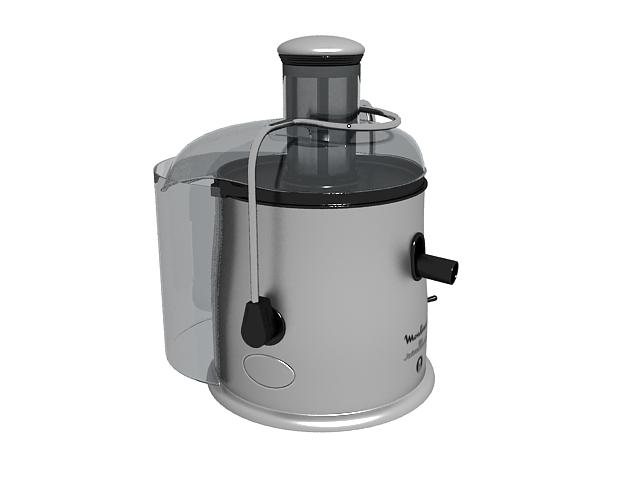 Moulinex juice machine 3d rendering