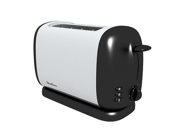 Moulinex toaster 3d rendering