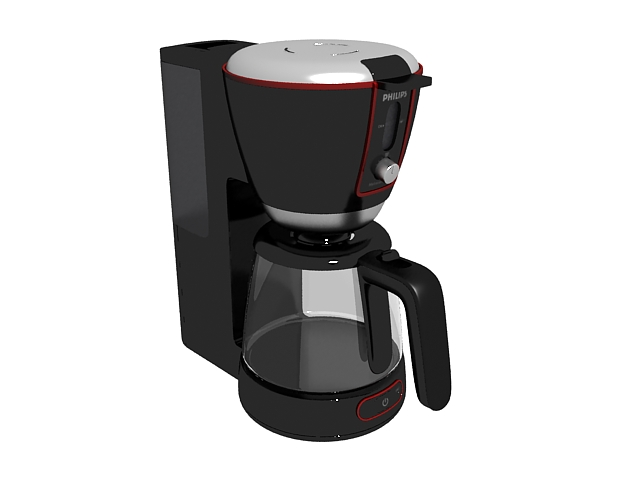 Philips coffee maker 3d rendering
