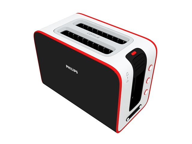 Philips toaster 3d rendering