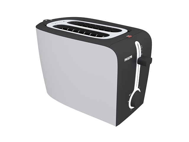 Philips toaster 3d rendering