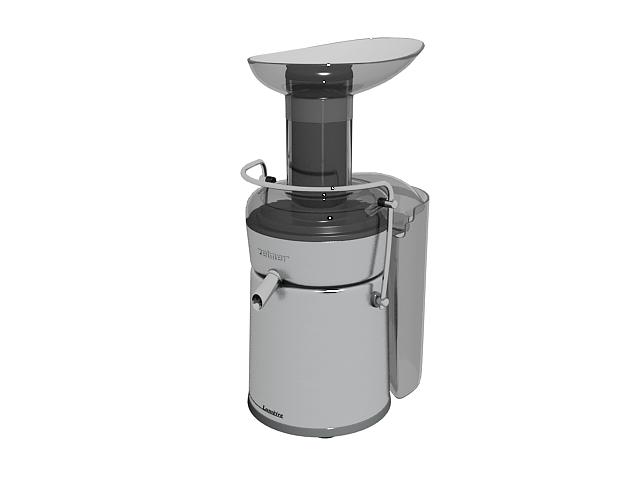 Zelmer juice extractor 3d rendering