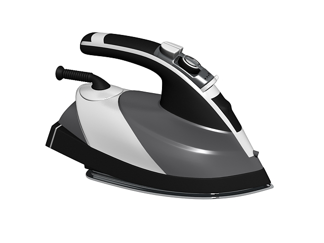 Electric steam iron 3d rendering