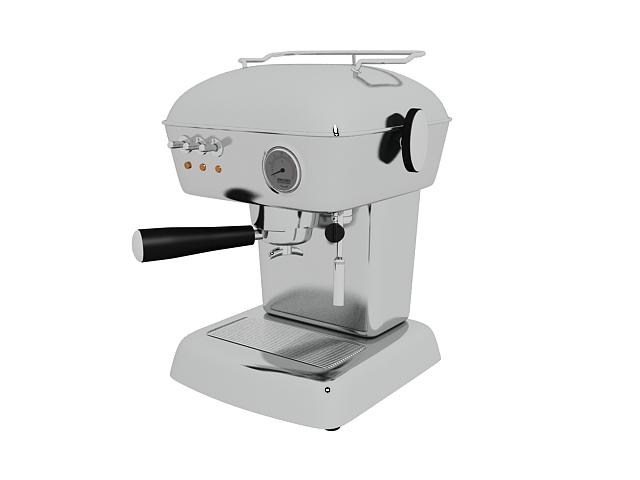 Ascaso coffee machine 3d rendering