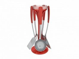 Kitchen utensil carousel set 3d preview