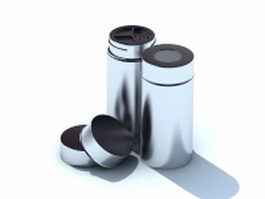 Stainless steel spice bottle 3d model preview