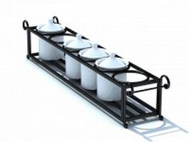 Ceramic spice storage sets 3d model preview