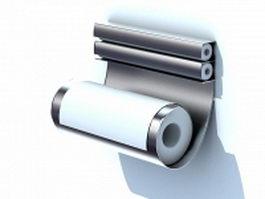 Cling wrap dispenser 3d model preview