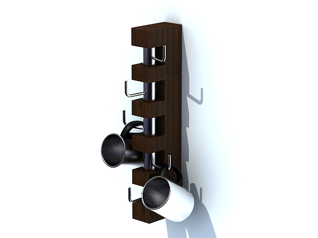 Coffee cup holder stand 3d rendering