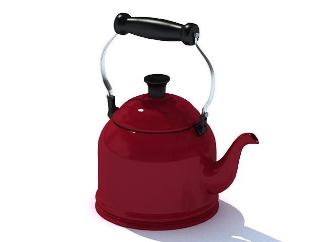Stovetop kettle 3d rendering
