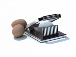 Egg cutter egg slicer 3d preview