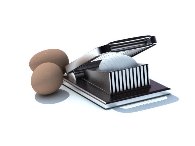 Egg cutter egg slicer 3d rendering