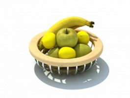 Fruit basket 3d preview