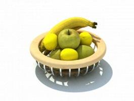 Fruit basket 3d model preview