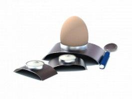 Stainless steel egg poacher 3d model preview