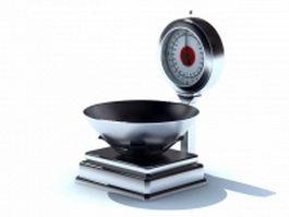 Digital kitchen scale 3d model preview