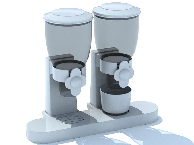 Plastic beverage dispenser 3d rendering
