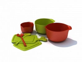 Lunch bowl containers 3d model preview