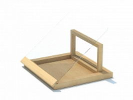 Wooden plate rack 3d preview
