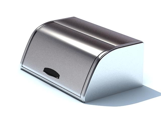Metal cutlery box 3d rendering