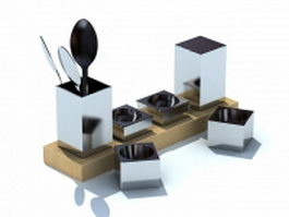 Cutlery holder 3d preview