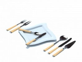 Cutlery sets 3d preview