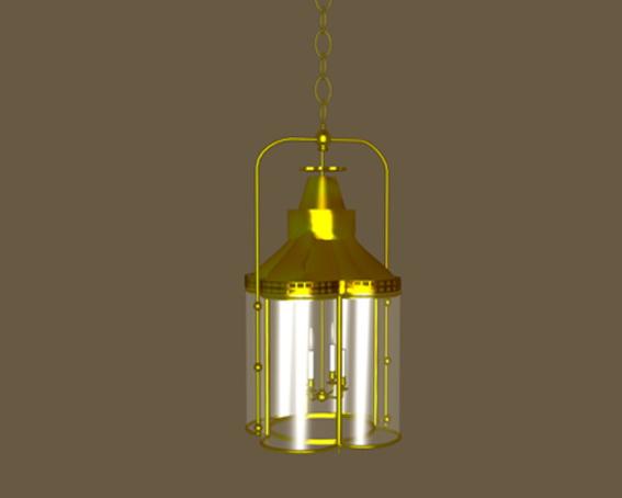 Idustrial pendant lighting fixtures 3d rendering